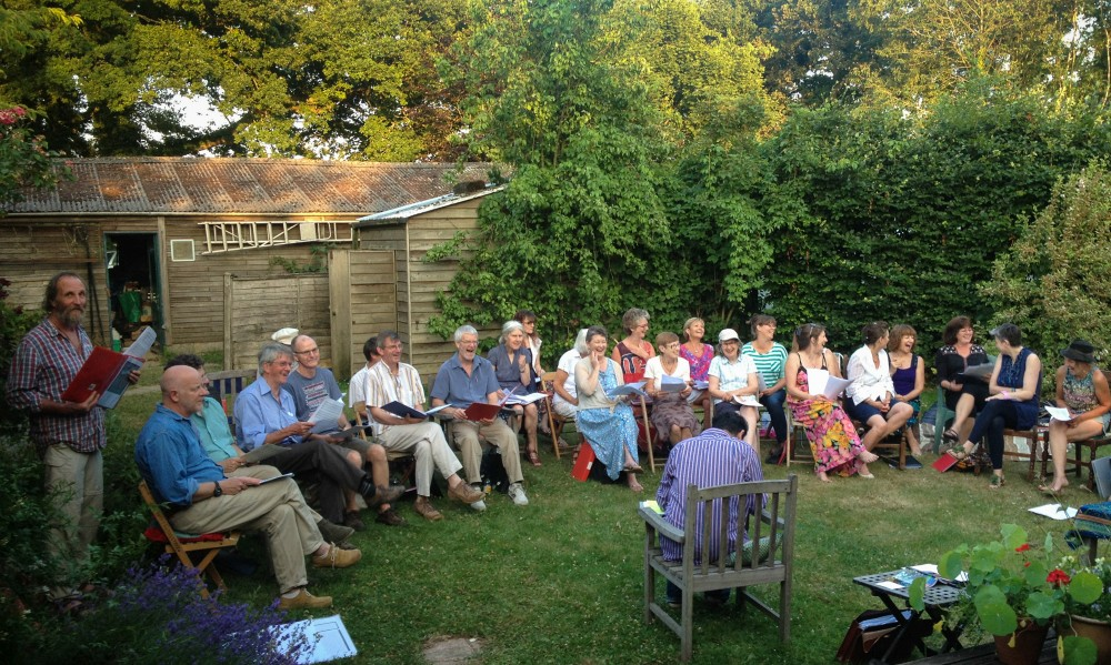 Al Fresco Rehearsal at Steve & Mandy's 2013